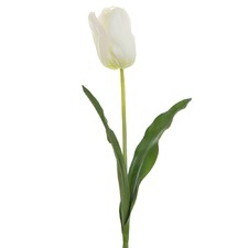 White French Tulip Artificial Plant Stems (Set of 12)