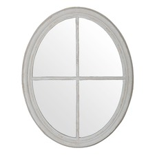 Hamptons Panelled Oval Mirror