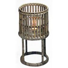 Natural Wood & Glass Lantern