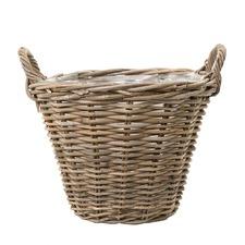 Grey Round Planter Basket