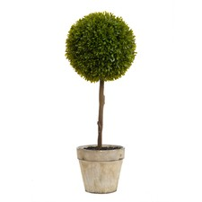 Artificial Green Boxwood Topiary