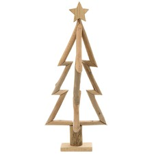 Natural Driftwood Silhouette Christmas Tree