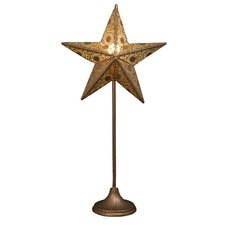 Champagne Star Table Lamp