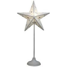 White Standing Light Up Star Lamp