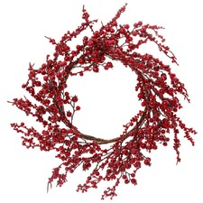 Red Glossy Berry Wreath