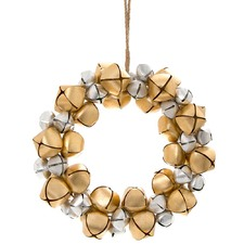 Silver & Gold Bell Wreath