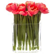 30cm Faux Tulip with Vase