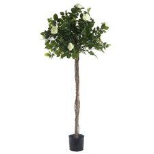 140cm Faux Rose Topiary