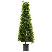 115cm Faux Boxwood Pyramid Tree