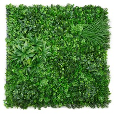 100cm Variegated Lush Faux Foliage Wall Panel