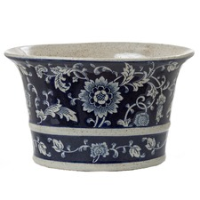 Blue & White Ceramic Emperor Oval Planter