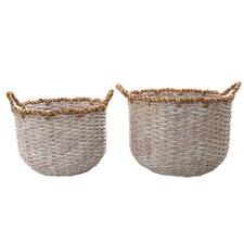 2 Piece Washed Playa Basket Set