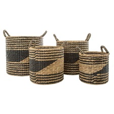 4 Piece Playa Nero Basket Set