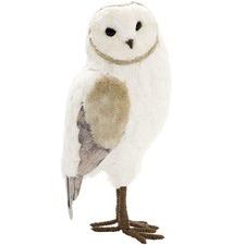 White & Gold Chalia Owl Decor