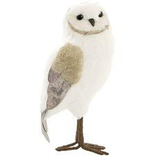 White & Gold Cheresa Owl Decor