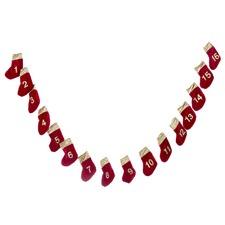 Red Velvet Advent Garland