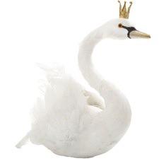 White Cepry Swan Table Décor