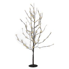90cm Twisty Twig Light-Up Snow Tree