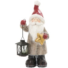 Light-Up Santa Table Ornament