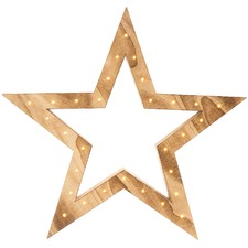 Fritzy Wooden Light-Up Table Star
