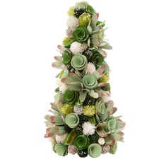 Jolly Sparkle Faux Succulent Tabletop Tree