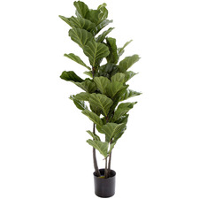 133cm Potted Faux Fiddle Leaf Tree