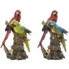2 Piece Decorative Macaw Set