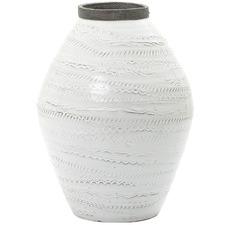White Shaka Ceramic Urn