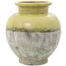 Lime Green Citron Ceramic Pot