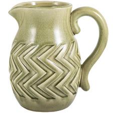 Olive Green Aztec Ceramic Decorative Jug