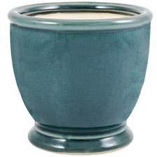Teal Ocean Ceramic Plant Pot