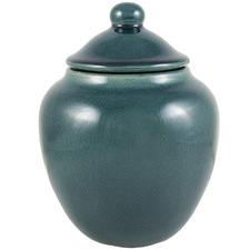 23cm Teal Ocean Ceramic Jar