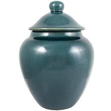 33cm Teal Ocean Ceramic Jar