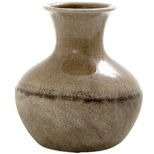 25cm Brown Terra Ceramic Vase