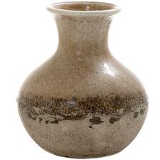 18cm Brown Terra Ceramic Vase