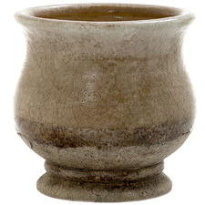13cm Brown Terra Ceramic Pot
