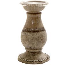 Brown Terra Ceramic Candle Holder