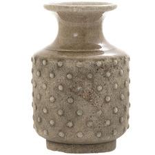Brown Dot Terra Ceramic Vase