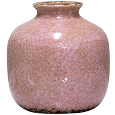 Distressed Pink Rosa Ceramic Pot