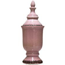 Distressed Pink Rosa Ceramic Jar