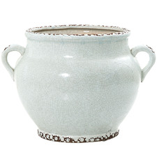 Ice Aqua Ceramic Pot with Handles