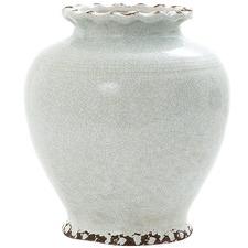 Ice Aqua Round Ceramic Vase