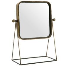 Brass Maharani Metal Desk Mirror