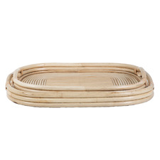 2 Piece Haiti Rattan Tray Set