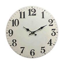 40cm White Thompson Metal Wall Clock
