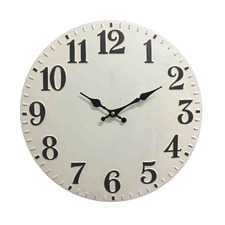 White Thompson Metal Wall Clock