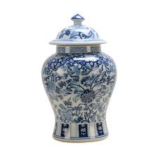 Blue Ming Porcelain Jar with Lid