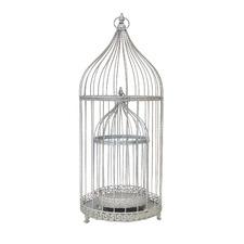 2 Piece Taj Metal Decorative Bird Cage Set