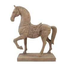 Natural Selle Horse on Stand Ornament