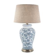 Blue & White Aviary Ceramic Table Lamp Base